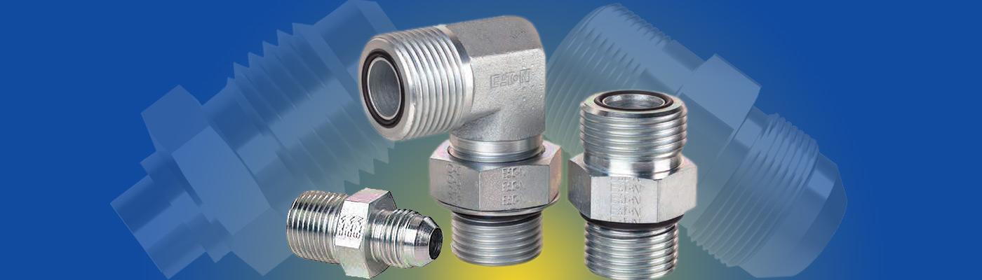 Straight Adapter Brennan 5 Units Steel 1-1//4 in Male O-Ring Boss x 1-1//4 in Female JIC 37/° Flare Swivel